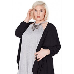 Women's Fashion Flowy Layer Three Quarter Jacket Coat Top XT6 3XL
