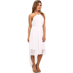 Marc New York by Andrew Marc Women's High-Low Halter Dress MD4C5287 White Dress 4