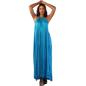 Ingear Tent Maxi Dress (Small/Medium, Blue)