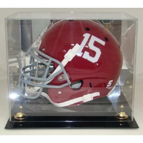 Deluxe Acrylic Football Helmet Display Case with Mirrored Back (Made in the USA)