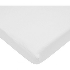 Baby Crib Fitted Sheet Fits Standard Size Crib Mattress - White, 1 Pack, 100% Cotton Sateen, for Maximum Softness and Easy Care Made In USA By TOT America