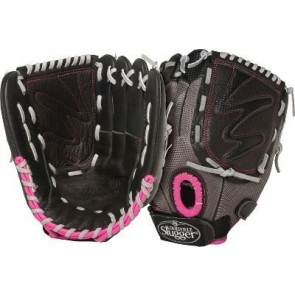 Louisville Slugger 11.5-Inch FG Diva Softball Infielders Gloves, Green, Right Hand Throw