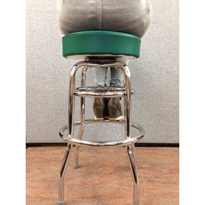 "Budget Bar Stools 0-1952GRN Commercial Grade Restaurant Swivel Bar Stool, 17"" L x 17"" W x 30"" H, Green"