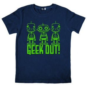 Hank Player 'Geek Out Robots' Kid's T-Shirt (3T, Navy)
