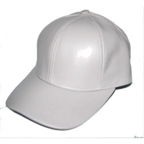 100 % Geniune Leather baseball cap hat, one size fit - made in USA Color: Lt. Grey