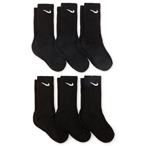 Nike Boys Crew Socks - 6 Pair Black