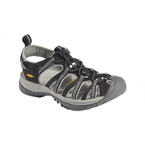 Keen Women's Whisper Sandal,Black/Neutral Gray,US 9 M