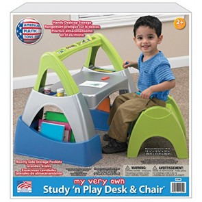 American Plastic Toys Study 'N Play Desk & Chair Playset