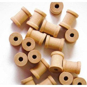 25 Unfinished Wood Spools 5/8 x 1/2 Inches,Made in the USA, by My Craft Supplies