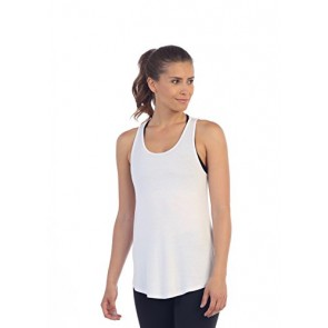 American Fitness Couture Womens Get Shredded Hand-Cut Tank, White XS/S