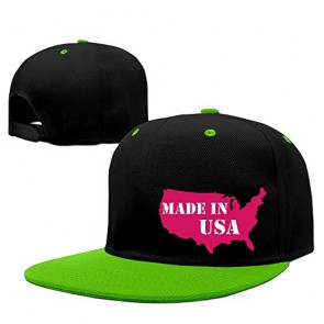 Made In USA Adjustable Caps Hat World KellyGreen