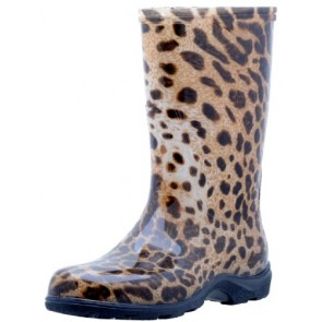 "Sloggers  Women's Rain and Garden Boot with ""All-Day-Comfort"" Insole, Leopard Print - Wo's size 6 - Style 5006LE06"
