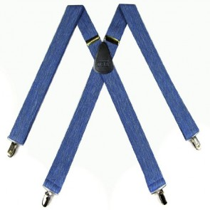 Denim Blue Made in the USA Suspenders For Men By The-Perfect-Necktie